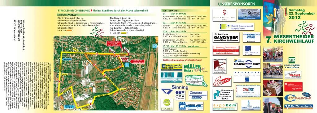 Kirchweihlauf Wiesentheid 2012 – Flyer Vorderseite